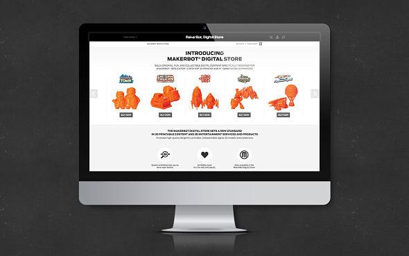 le concept Digital Store une boutique en ligne avec des jouets en 3D