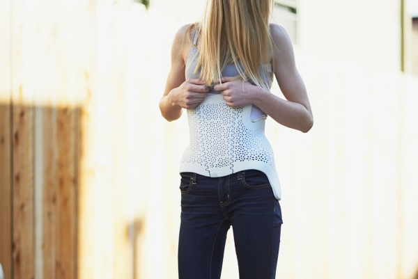 corset fabriqué par impression 3D