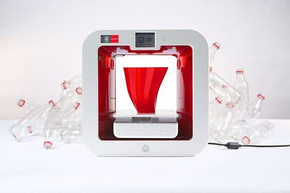 3D Systems et Coca Cola dévoile EKOCYCLE Cube 3D