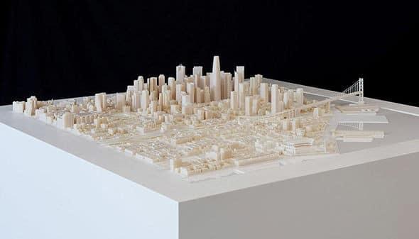 exposée d'une maquette représentant la ville