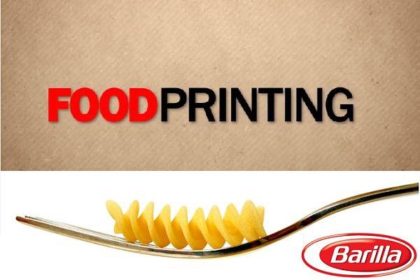Barilla organise un concours de design pour ses pâtes imprimés en 3D
