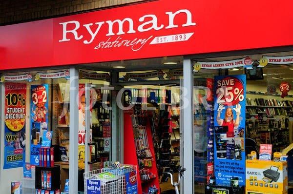 la chaine de magasin Ryman va vendre des imprimantes 3d