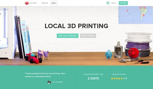 plateforme 3D Hubs
