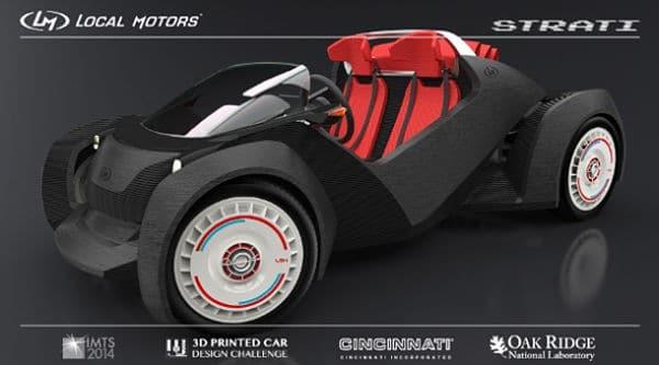la Strati une voiture fabriquée par impression 3d