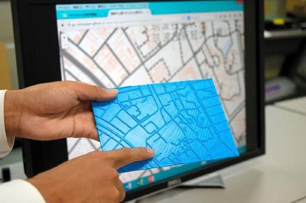Des cartes 3D pour les non-voyants