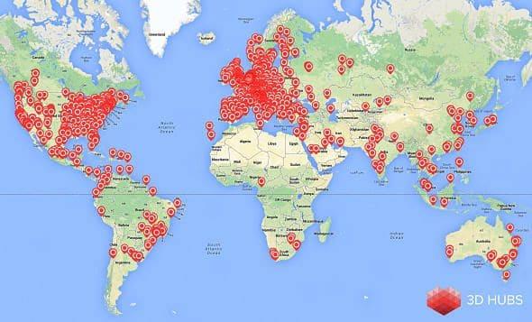 cartographie 3D Hubs