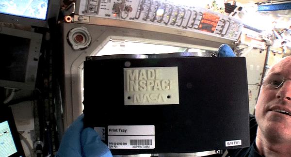 La première impression 3D dans l'espace !
