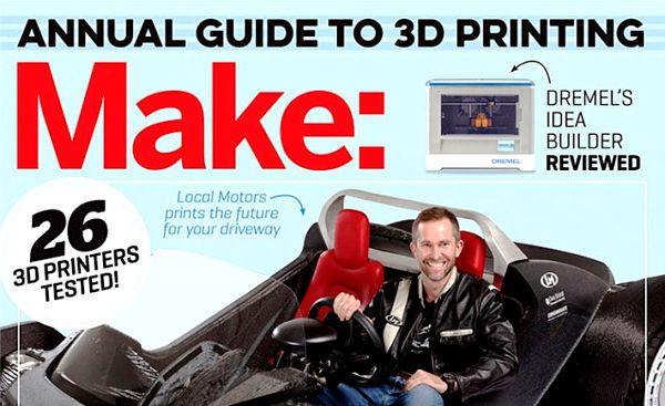 le classement du top des imprimantes 3D selon make
