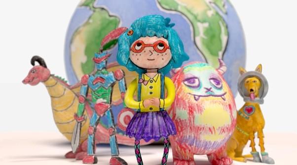 des dessins d'enfants imprimés en 3D au musée