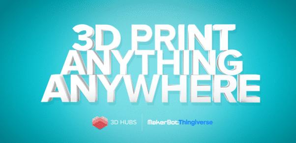 3D Hubs et Thingiverse signent un partenariat