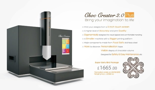 Choc Edge dévoile une imprimante 3D chocolat 2 fois moins chère