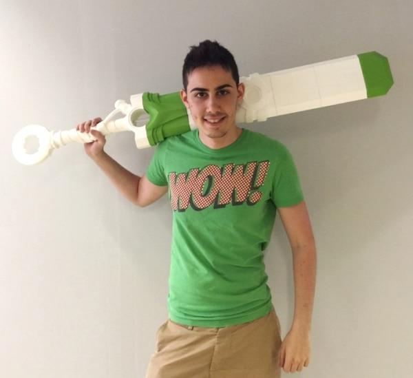 épée d'Ekko imprimée en 3D