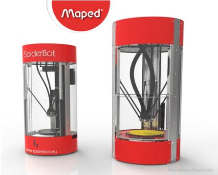 Maped choisit l'imprimante 3D française SpiderBot pour faire du prototypage !