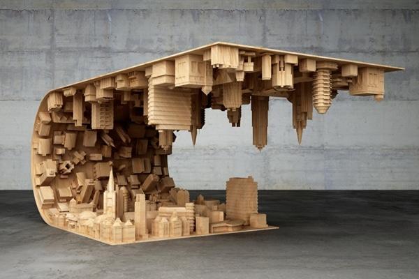 Ultra Une magnifique table de salon imprimée en 3D façon Inception ! AR-38