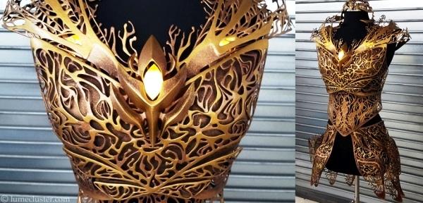 Une magnifique armure imprimée en 3D pour l'actrice Felicia Day !