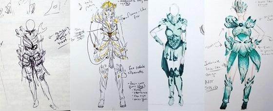 croquis armure 3D