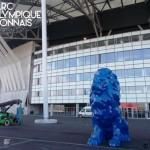 4 lions imprimés en 3D pour le Grand Stade de l'Olympique Lyonnais