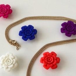 pendentif 3d fleur