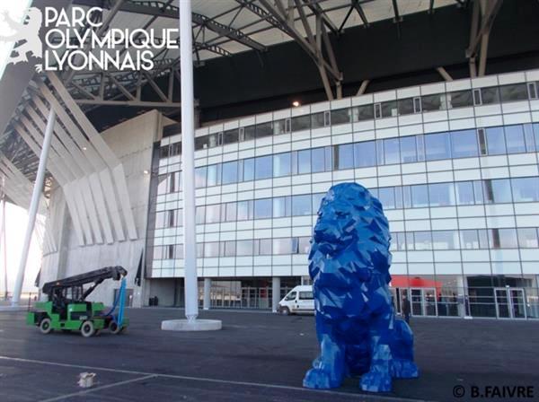 lion impression 3d olympique lyonnais