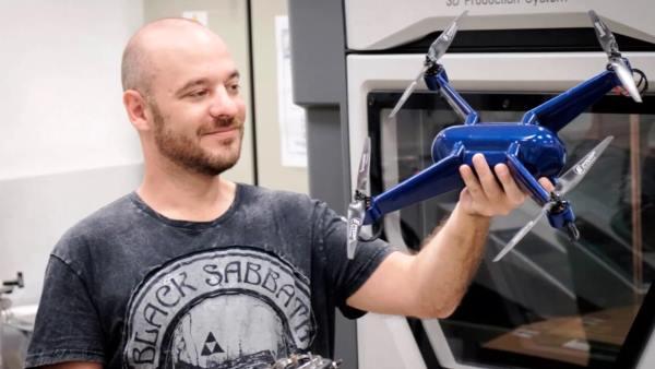 Un drone imprimé en 3D avec le même matériau que l'Airbus A350