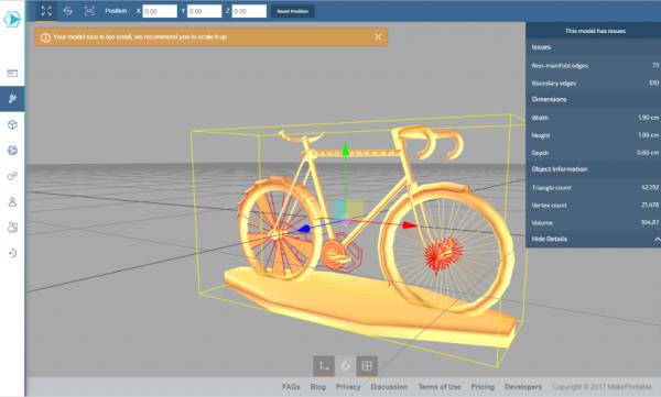 Makerprintable : un service en ligne pour optimiser les fichiers 3D