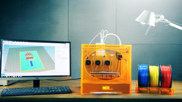 Nix : une imprimante 3D couleur à seulement 865 € !