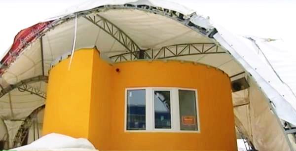 Une maison de 37 m2 imprim e en 3d pr s de moscou for Construction de maison imprimante 3d