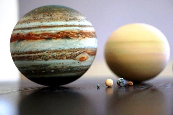 Des planètes du système solaire reproduites grâce à l'impression 3D