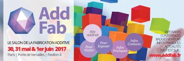 Add Fab : un nouveau salon de la fabrication additive à Paris