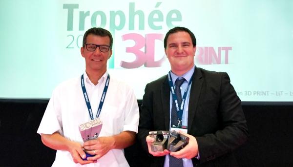 Innovation plasturgie et composites (IPC) remporte le trophée 3D PRINT