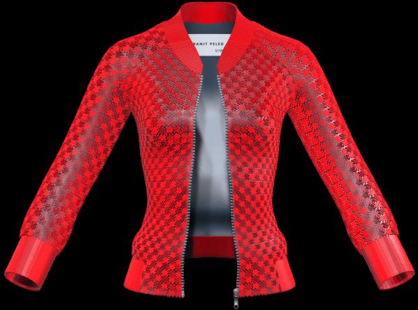 veste pour femme imprimée en 3D