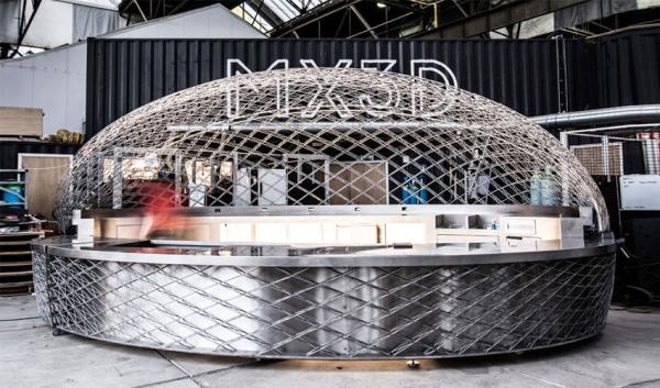 café imprimé en 3D par MX3D