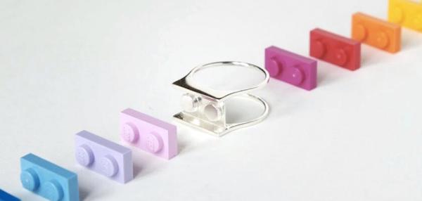 Des bagues LEGO imprimées en 3D à personnaliser
