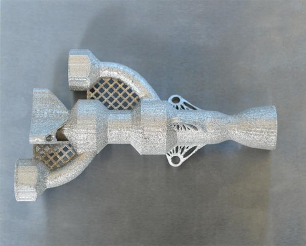 pièce d'avion en métal imprimée en 3D