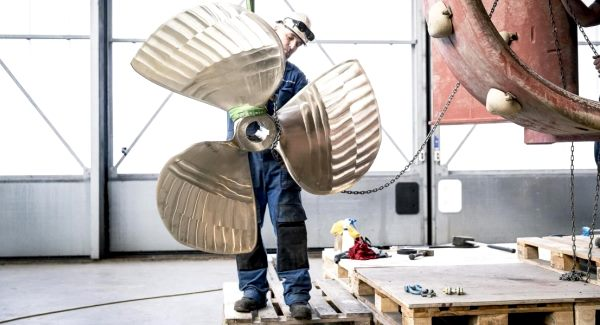 hélice de bateau fabriqué par impression 3d