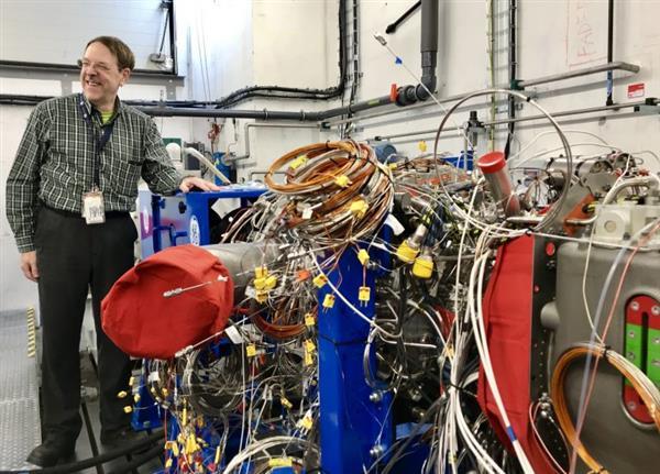 turbomoteur GE imprimé en 3D