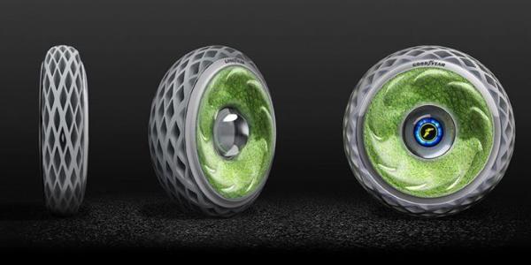 Goodyear Oxygène, le pneu concept qui produit de l'air pur !