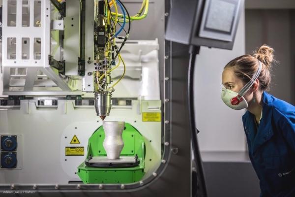 Technologie d'impression 3D métal par fusion directe par projection de poudres de l'alsacien BeAM rachetée par AddUp en 2018