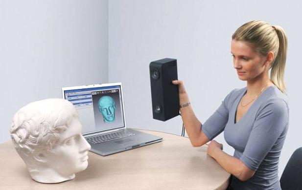 le scanner 3d appareil utilisé par les designers pour modéliser des objets