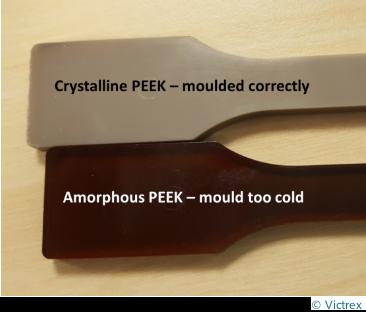 différence de cristallisation du PEEK