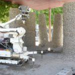 Rock Print : un pavillon imprimé en 3D à partir de pierres et de cordages