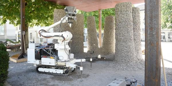 des pylones de pavillon imprimés en 3D