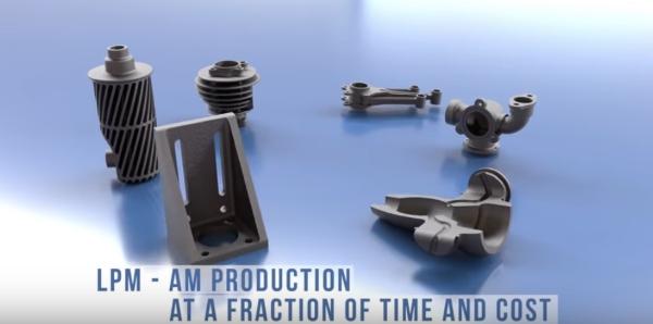 pièces imprimées avec la technologie LMP
