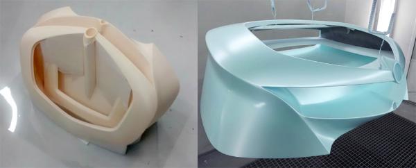 Partie d'amplificateur imprimée en 3D avec de la résine ULTEM9085