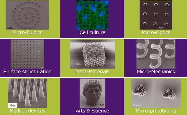 Applications possibles avec la technologie de Microlight3D