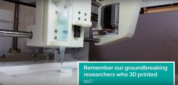 bio-imprimante 3D de l'Université de Newcastle