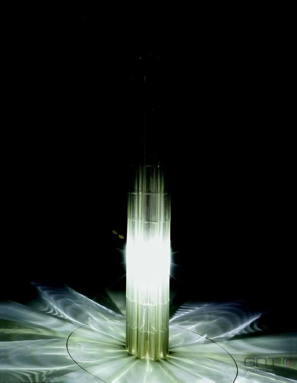 Lampe imprimée avec la G3DP2