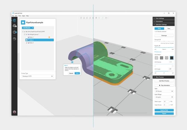 logiciel d'impression 3D GrabCAD Print de Stratasys