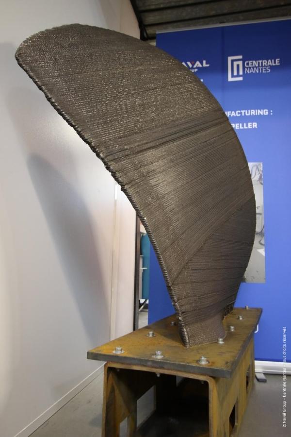 hélice en inox fabriqué par impression 3D