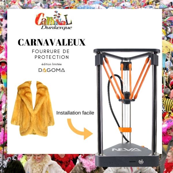 protection en fourrure carnavaleux